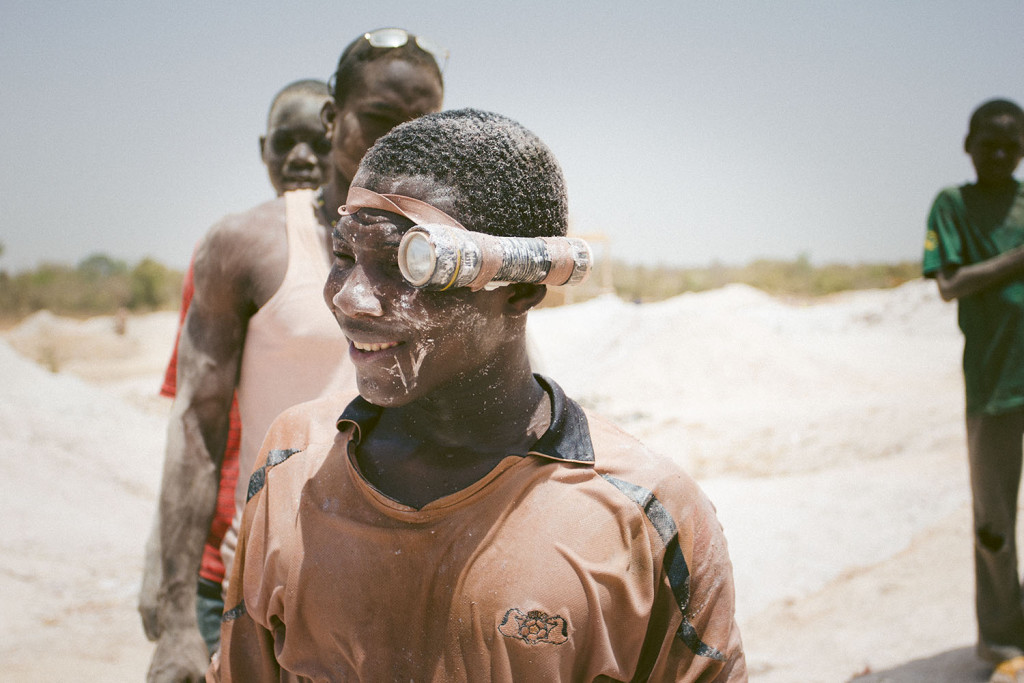A worker who just came out of a mine shaft in a goldmine at Bouda in Burkina Faso, March 2014