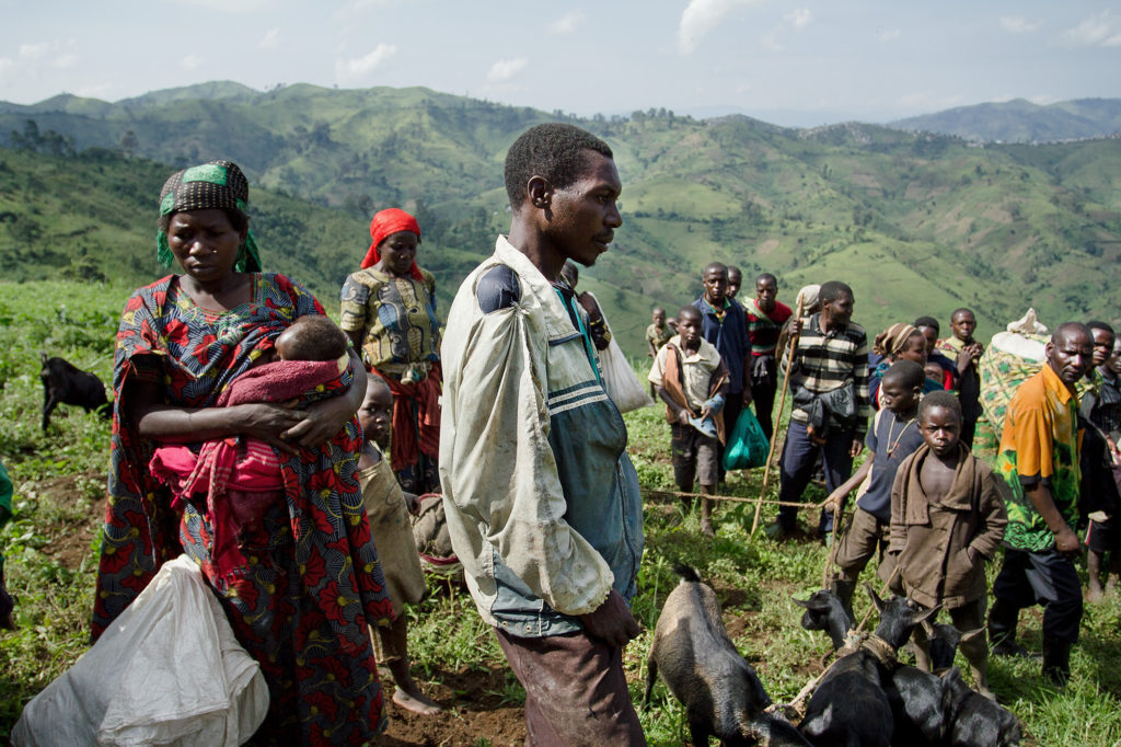 Refugees close to Mpati, eastern DRC, 2016