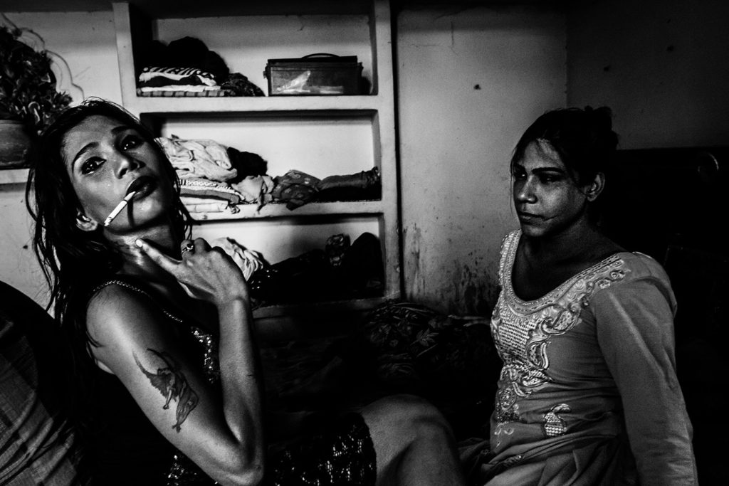 Transgender sex workers in Delhi, 2015.